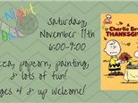 """Kids Night Out - """"A Charlie Brown Thanksgiving"""""""