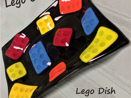 Fused Glass Lego Snack Dish 2020 Summer Camp Project