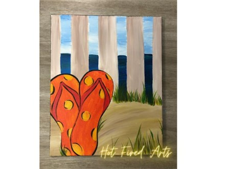 Beach Flip Flop Canvas