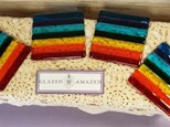 Rainbow Fused Glass Coaster Set