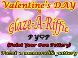 Valentine's Day Evening PYOP at Glaze-A-Riffic