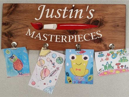 My Child's Masterpieces - Plank Art - Paint and Sip
