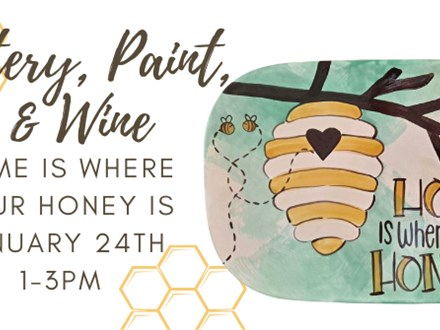 Pottery, Paint, & Wine Workshop 1/24 @ The Pottery Patch