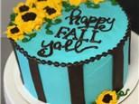 Buttercream Basics 8in. Fall Sunflower Cake