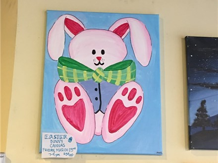 Easter Bunny Canvas on Friday, March 23rd 7-9p