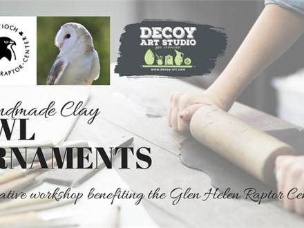 Handmade Clay Owl Ornaments with the Glen Helen Raptor Center