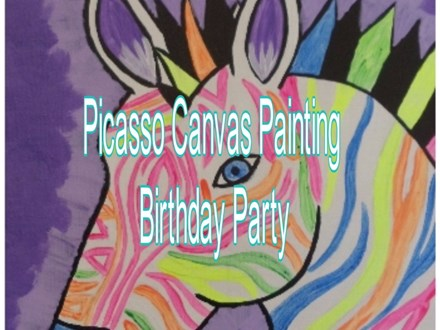 Picasso Canvas Painting Birthday Party