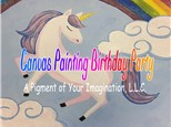 Creative Canvas Painting Birthday Party
