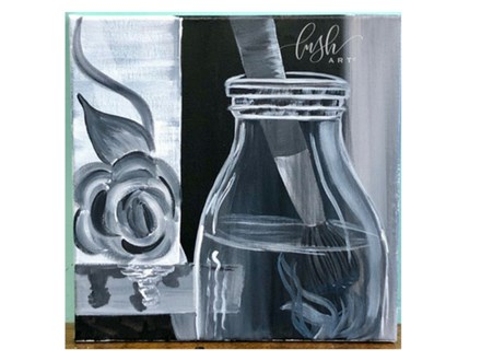 Black & White Still Life Paint Class