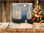 """""""Snowy Deer"""" Canvas Sip & Paint Event ages 21 & up 12/28/20"""