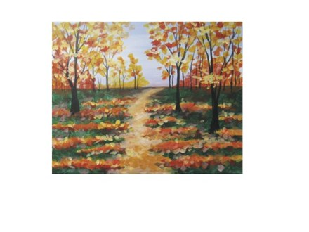 Autumn Path - Canvas - Paint and Sip