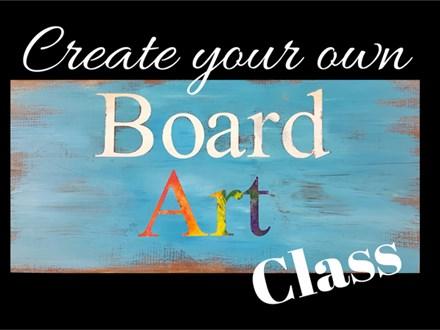 Jessica's Board Art Class
