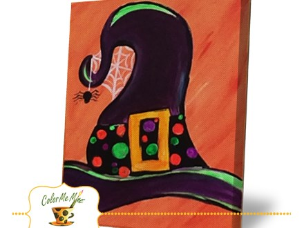 Witch Hat Canvas Painting Friday, October 30th 3:00PM - 5:00PM