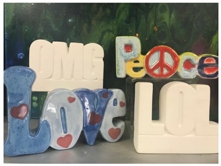 PEACE, LOL, OMG, LOVE BIRTHDAY PARTY