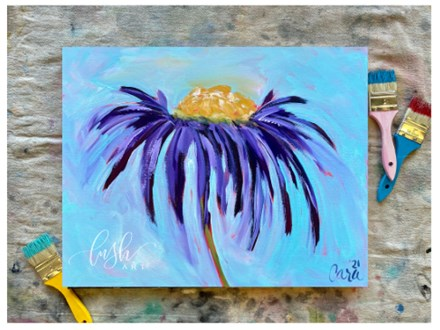 Purple Dasiy Paint Class - Perry