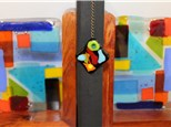 Kids Class - Fused Glass Bookends with a free bookmark 9/10 4pm