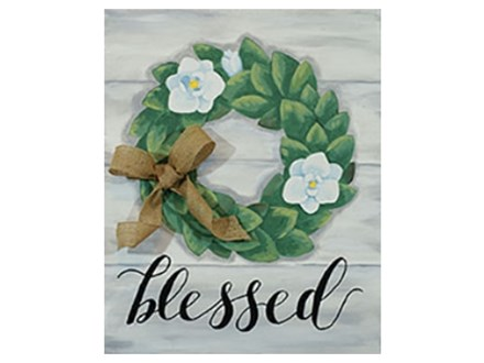 """Magnolia Wreath"" Paint Night, April 4th"