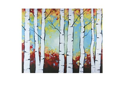 Birch Trees - Canvas - Paint and Sip