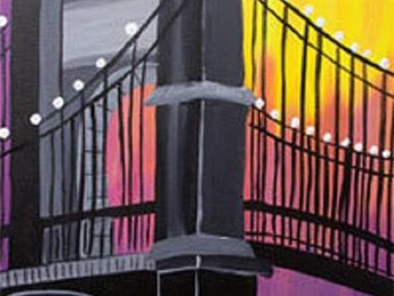 "Paint & Sip ""Twilight Bridge"""