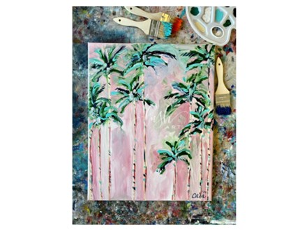 Palm Trees Paint Class