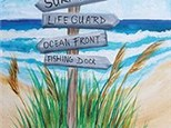Beach This Way canvas at the Blind Pelican Mar 18th