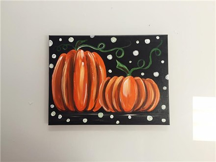 Pair of Pumpkins (adult) Canvas Class