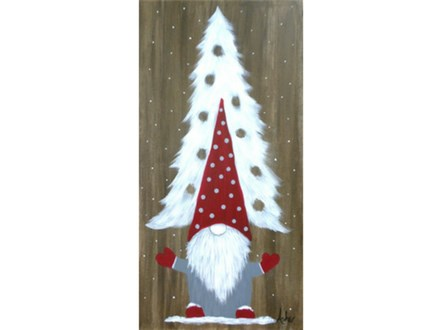 Holiday Gnome - Choice colors - 10x20 canvas