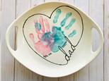 Heart Dad Handprint Platter