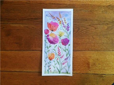 REPEAT Spring Flowers (age 13+) Watercolor Class