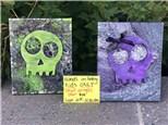 Kid's Class - Skull Acrylic Pour - Sept. 21st 10:30 am