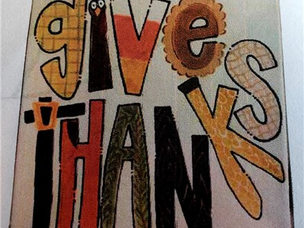 Give Thanks Platter ages 5-11 Art Class