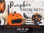 Pumpkin Painting Party at Color Me Mine Princeton!