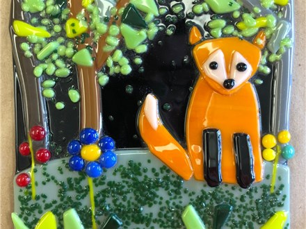 Kid's Fused Glass - Fox Tile - Afternoon Session - 11.21.18