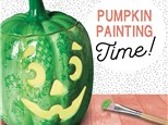 Pumpkin Painting Party, Sunday Sept 22nd @ 12:00pm
