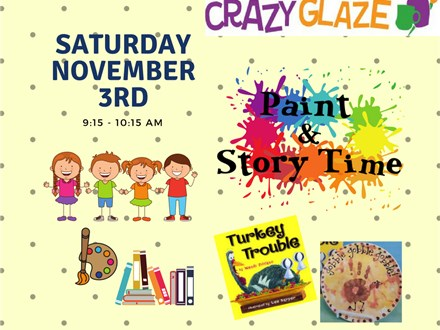 Ticket for Storytime-November 3rd-Turkey Trouble