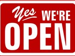 We are OPEN today!