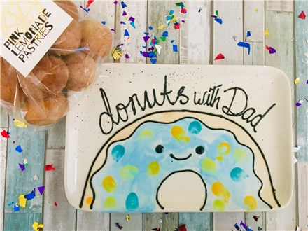 Donuts with Dad plate...and donut holes!!