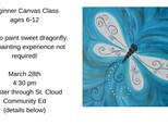Kids Beginner Canvas Dragonfly