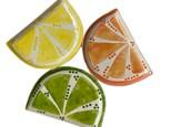 """ Citrus Slice Plate"" To-Go Kit-at Color Me Mine - Aspen"