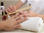 Manicure and Pedicure: Diamond Nails & Waxing