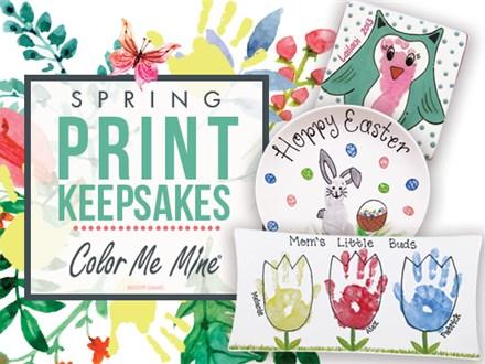 Apr 1st • Spring Hand Print Event • Color Me Mine Aurora