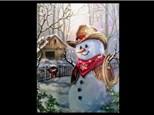 Oil: Guest Artist: Cowboy Snowman 12/11