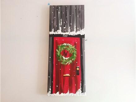 Cozy Cabin Door (Adult) Canvas Class