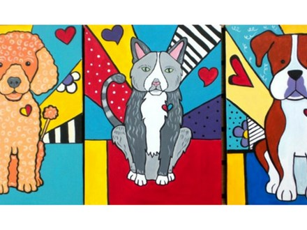 Pet POP Art of your pet - 12x16 *please email a sitting pose of your pet.
