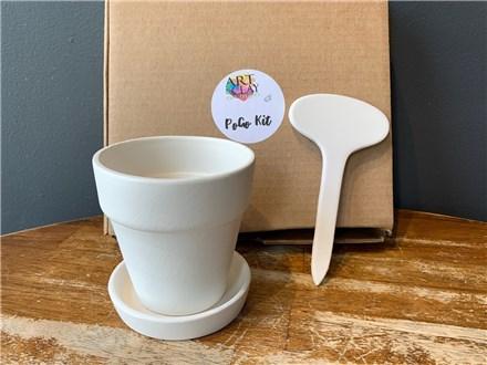 PoGo Kits: Paint Your Own Pottery ToGo! (I Love to Garden - Petite)