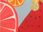 Summer Camp Monday, June 11th Fruit Slice Canvas
