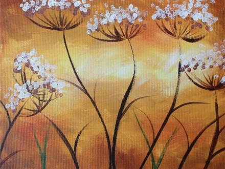 "Canvas Night ""Autumn Dandelions"" Saturday, September 24th 7-10pm"