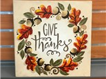 Give Thanks Canvas Class