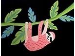 Sloth Ceramic & Canvas To Go Kit!