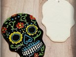 Candy Skull Ornament - Ready to Paint